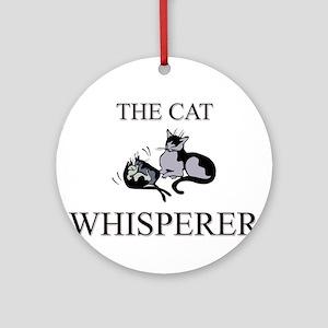 The Cat Whisperer Ornament (Round)