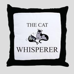 The Cat Whisperer Throw Pillow