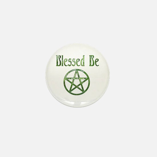 Blessed Be Wiccan Mini Button