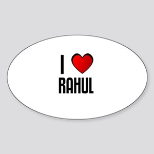 I LOVE RAHUL Oval Sticker