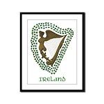Irish Harp and Shamrock Framed Panel Print