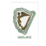 Irish Harp and Shamrock Postcards (Package of 8)