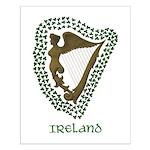 Irish Harp and Shamrock Small Poster