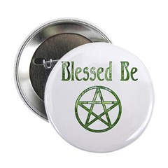 """Blessed Be Wiccan 2.25"""" Button"""