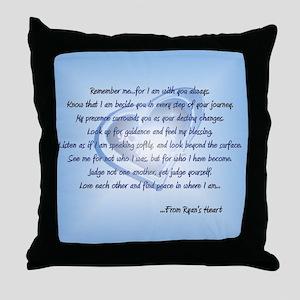 Remember Me Throw Pillow