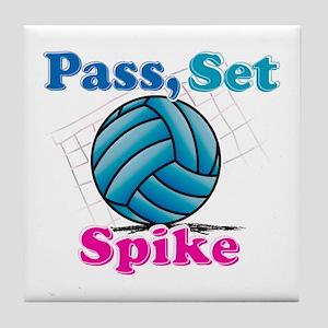 Pass set spike Tile Coaster