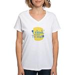 Fun Women's V-Neck T-Shirt: I think