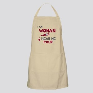 I am woman hear me pour Light Apron