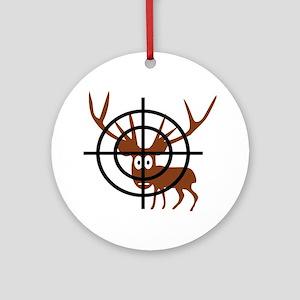 Deer Hunter Crosshair Ornament (Round)