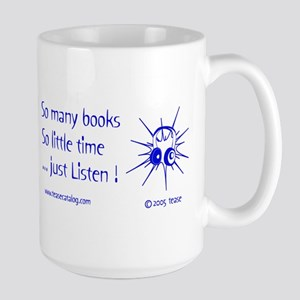 So Many Books...15 oz. white Mug