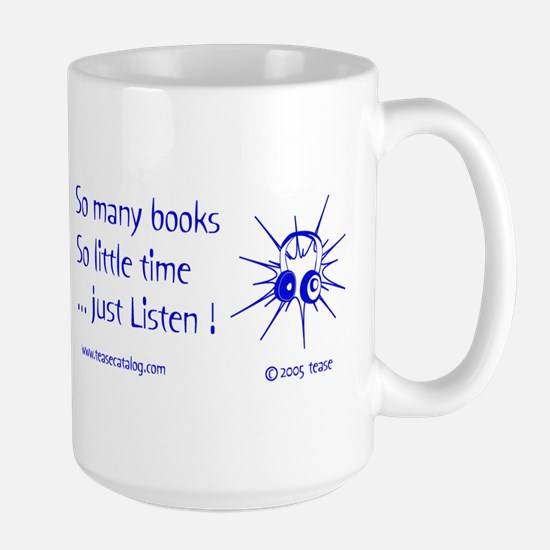 So Many Books...15 oz. white Mug