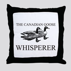 The Canadian Goose Whisperer Throw Pillow