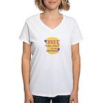 Fun Women's V-Neck T-Shirt: Three wise men?