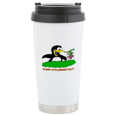 St Patrick's Day Penguin Stainless Steel Travel Mu