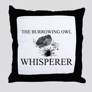 The Burrowing Owl Whisperer Throw Pillow