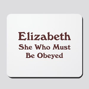 Personalized Elizabeth Mousepad