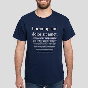 Lorem Ipsum Dark T-Shirt
