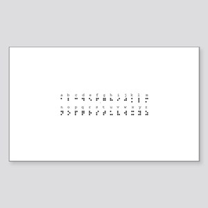 Braille Alphabet Rectangle Sticker )