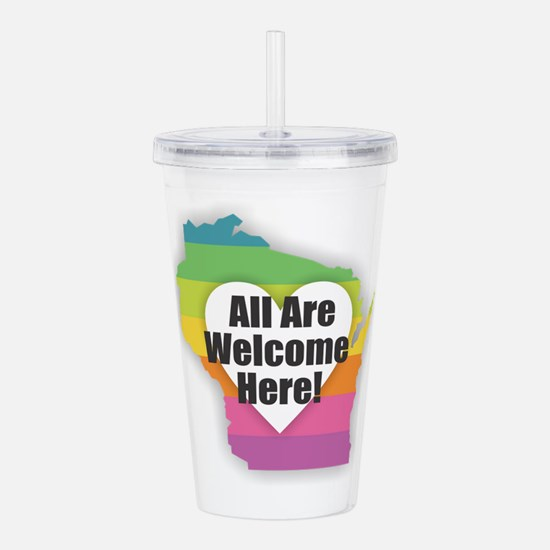 Wisconsin - All Are We Acrylic Double-wall Tumbler