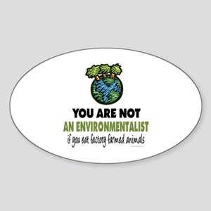 Animals Rights Oval Sticker