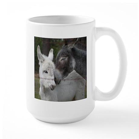 Foal and Mother Donkey Large Mug
