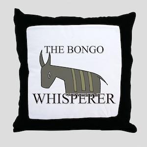 The Bongo Whisperer Throw Pillow