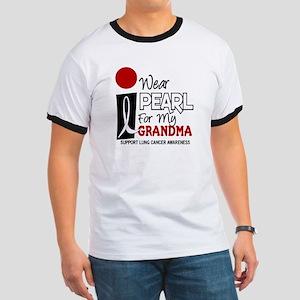 I Wear Pearl For My Grandma 9 Ringer T