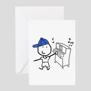 Boy & Piano Greeting Card