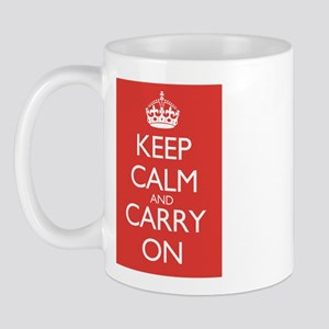 Keep Calm and Carry On Double Red Mug