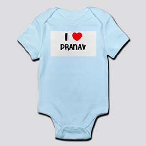 I LOVE PRANAV Infant Creeper