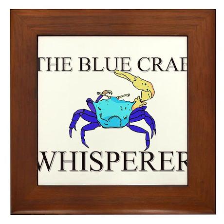 The Blue Crab Whisperer Framed Tile