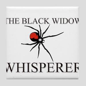 The Black Widow Whisperer Tile Coaster