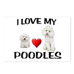 POODLES Postcards (Package of 8)