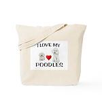 POODLES Tote Bag
