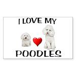 POODLES Sticker