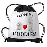 POODLES Drawstring Bag