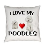 POODLES Everyday Pillow