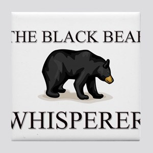 The Black Bear Whisperer Tile Coaster