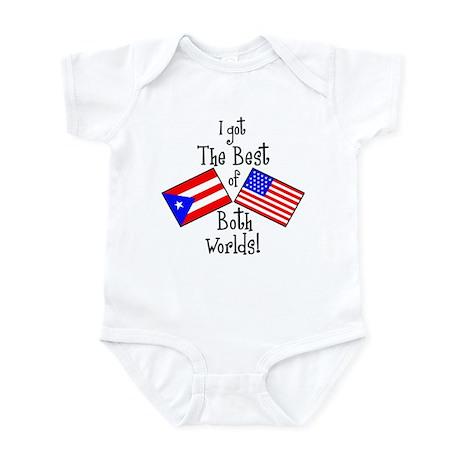 """Puerto Rican American"" Infant Bodysuit"
