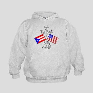 """""""Puerto Rican American"""" Kids Hoodie"""