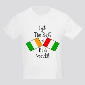 """Irish-Italian Kid"" Kids Light T-Shirt"