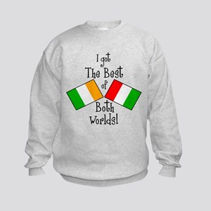 """Irish-Italian Kid"" Kids Sweatshirt"
