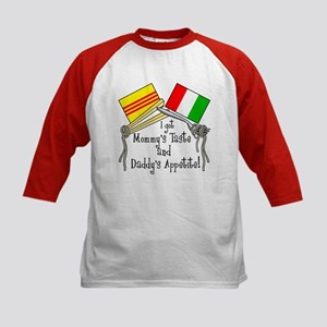 """Vietalian Kids - Food"" Kids Baseball Jersey"