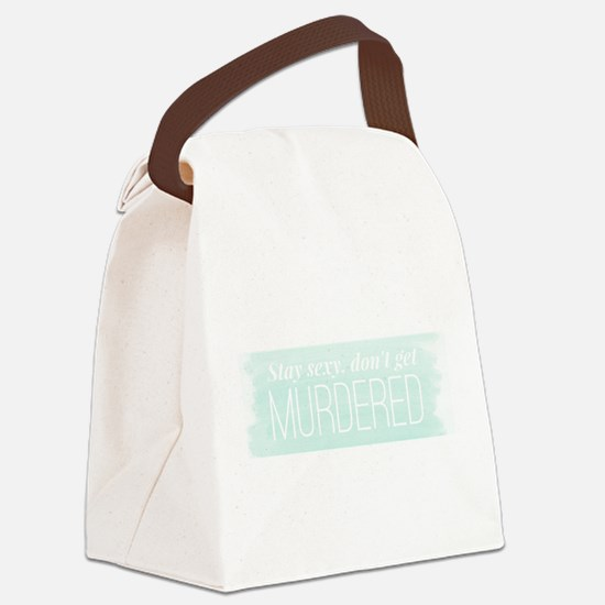 Cute Podcast Canvas Lunch Bag