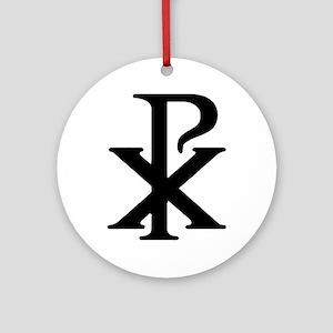 """Chi Rho"" Ornament (Round)"