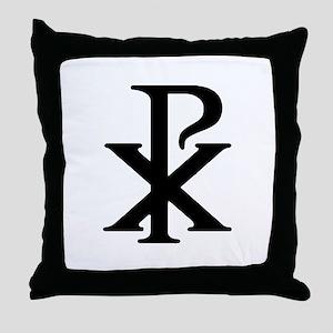 """Chi Rho"" Throw Pillow"