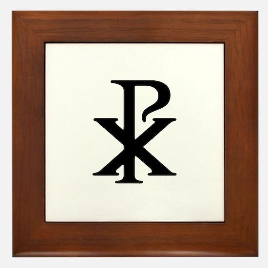 """""""Chi Rho"""" Framed Tile"""