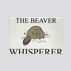 The Beaver Whisperer Rectangle Magnet