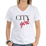 City Girl Women's V-Neck T-Shirt