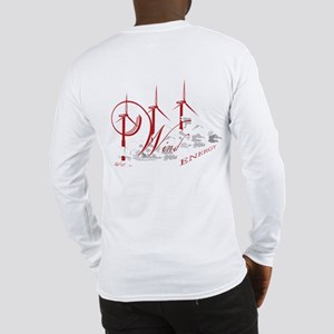 Wind Energy Red Text Long Sleeve T-Shirt